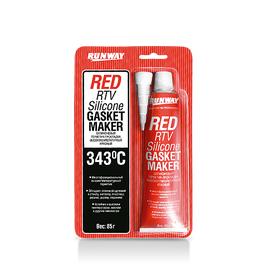 Силиконовый герметик-прокладка (красный) RUNWAY RW8500, фото  - Метэкс