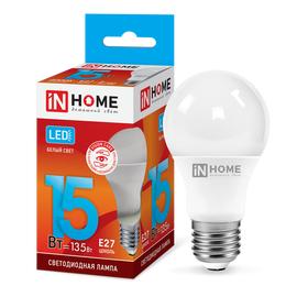 Лампочка IN HOME LED-A60-VC 15 Вт Е27 4000К, фото  - Метэкс