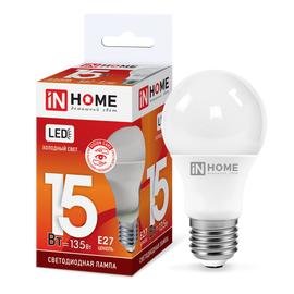 Лампочка IN HOME LED-A60-VC 15 Вт Е27 6500К, фото  - Метэкс