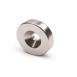 Неодимовый магнит диск 25х3 мм с зенковкой 4,5/7,5, фото  - Метэкс