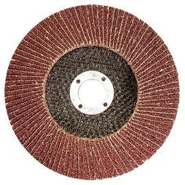 Круг лепестковый торцевой КЛТ-1 125 х 22,2 зернистость Р80 ЛУГА, фото  - Метэкс