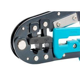 Кримпер для обжима телефонных и компьютерных клемм GROSS 17719, фото , изображение 3 - Метэкс
