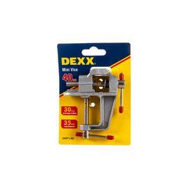 Мини тиски настольные с винтовым зажимом 40 мм DEXX 32471-40, фото  - Метэкс