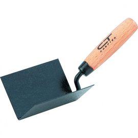 Кельма угловая 110 х 75 х 75 мм стальная для внутренних углов буковая ручка СИБРТЕХ 86309, фото  - Метэкс