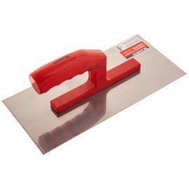 Гладилка стальная 280 х 130 мм зеркальная полировка пластмассовая ручка MATRIX 86774, фото - Метэкс