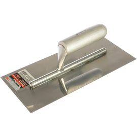 Гладилка стальная 280 х 130 мм зеркальная полировка деревянная ручка MATRIX 86732, фото - Метэкс