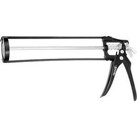Пистолет для герметика 310 мл скелетный усиленный с фиксатором SPARTA 886125, фото - Метэкс
