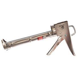 """Пистолет для герметика 310 мл """"полуоткрытый"""" хромированный зубчатый шток 7 мм MATRIX 88640, фото , изображение 2 - Метэкс"""