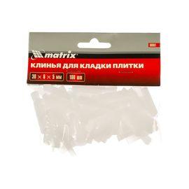 Клинья для кладки плитки 30х6х5 мм упаковка 100 шт MATRIX 88081, фото  - Метэкс