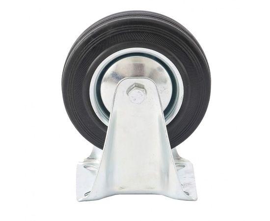 Колесо неповоротное d-125мм, крепление платформенное, фото - Метэкс