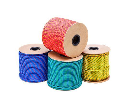 Шнур полипропиленовый плетеный без сердечника 6 мм 8-прядный 490кг, фото - Метэкс
