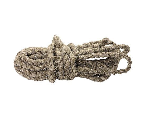 Веревка льнопеньковая 10мм 6м крученная, фото - Метэкс