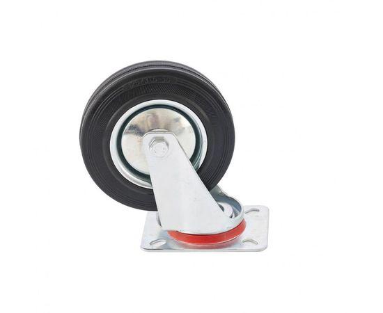 Колесо поворотное d-200мм, крепление платформенное, фото - Метэкс