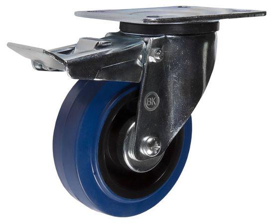 SRCLb42 (43) Ролик поворотный с торм. диам. 100 мм (130 кг), фото - Метэкс