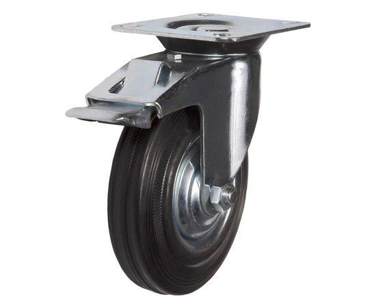 SCb85 (18) Ролик поворотный с торм. диам. 250 мм (180 кг), фото - Метэкс