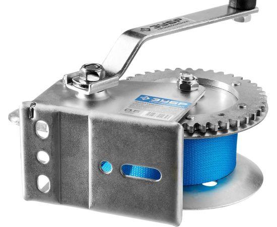 Лебедка ручная барабанная ленточная 0,5т 8м ЗУБР 43115-0.5, фото , изображение 4 - Метэкс