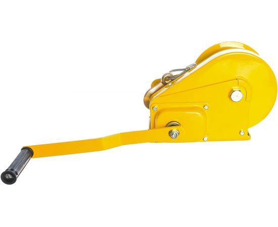 Лебедка ручная барабанная тросовая 1т 20 м TOR 11315, фото , изображение 4 - Метэкс