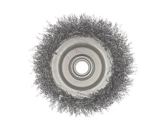 """Щетка для УШМ 100 мм М14 """"чашка"""" витая проволока 0,3 мм СИБРТЕХ 476057, фото , изображение 3 - Метэкс"""